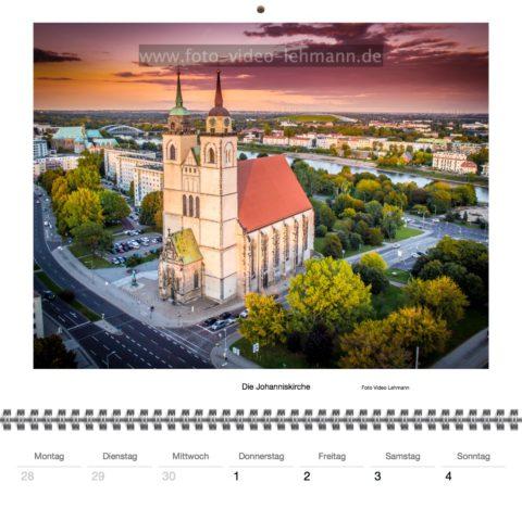 Luftbilder von Magdeburg als Kalender