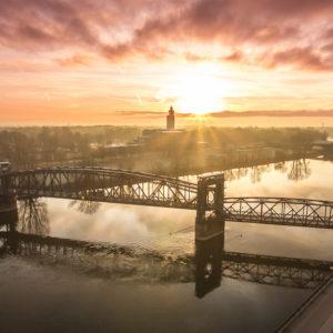 Magdeburger Platte Hubbrücke